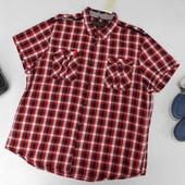 Яркая натуральная рубашка в клеточку angelo litrico C&A XXL ворот 45-46
