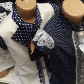 Нарядные блузки для школьниц 7-10 лет опт и розница