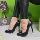 Туфли лодочки черные с красной подошвой