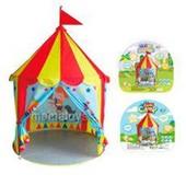 Детская Палатка M 5489  домик, цирк шапито,100-100-155 см, 1 вход - застежка липучка  В наличии