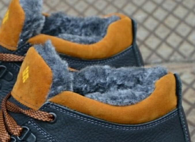 Зимние кожаные ботинки мужские фото №2
