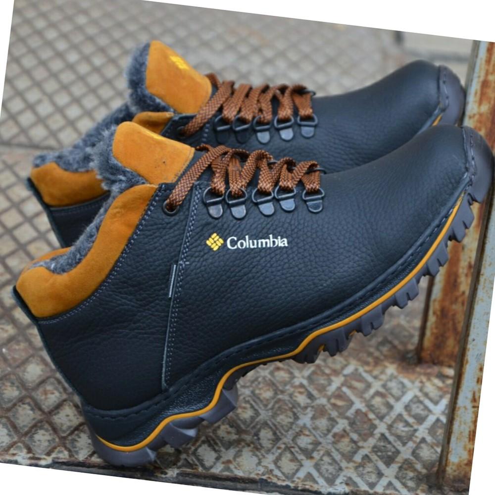 Зимние кожаные ботинки мужские фото №4