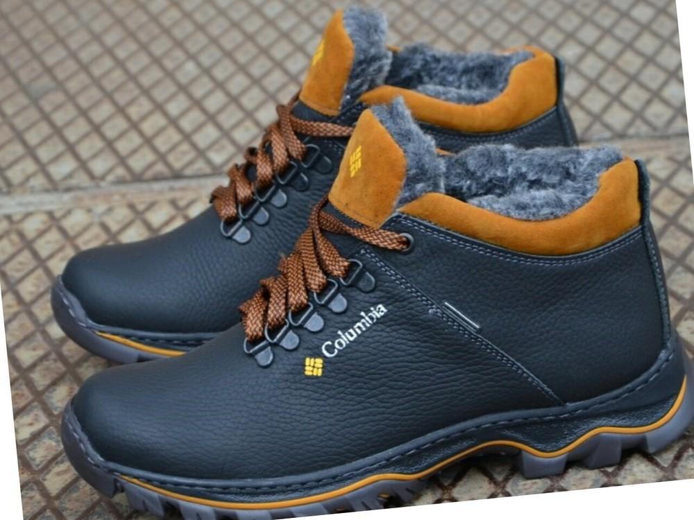 Зимние кожаные ботинки мужские фото №6