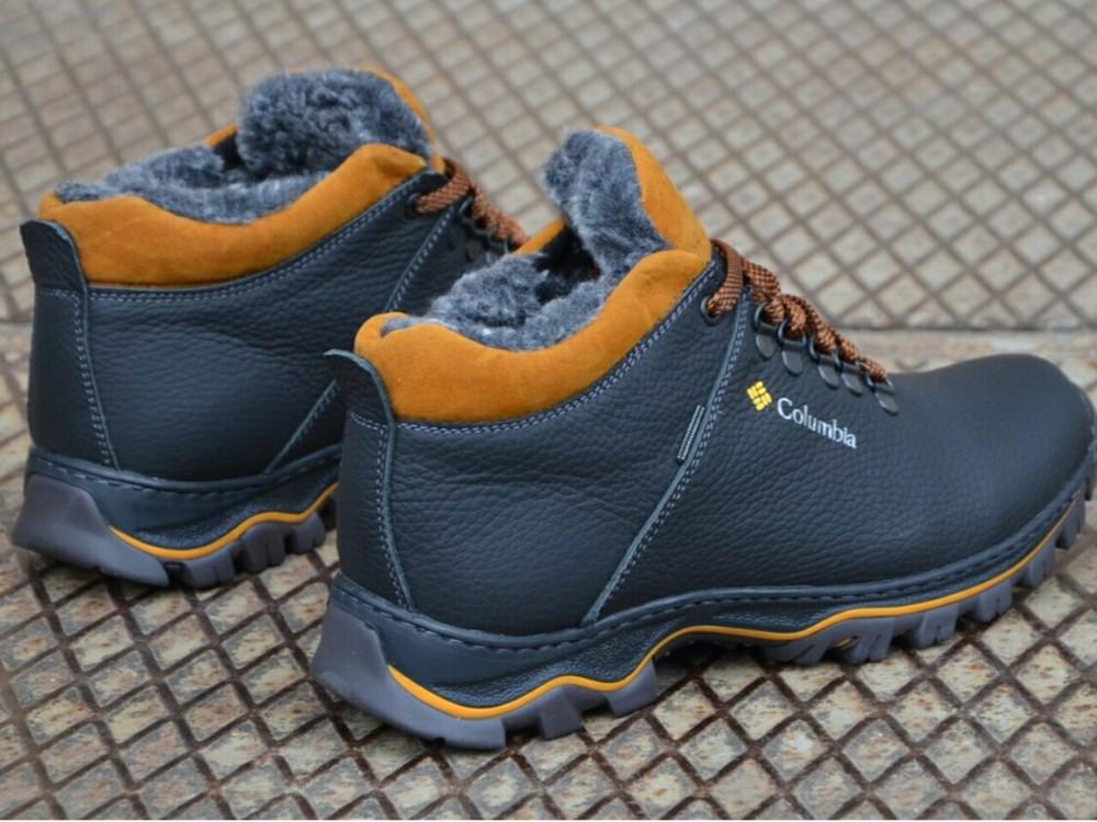 Зимние кожаные ботинки мужские фото №7