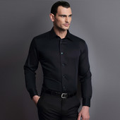 Черная приталенная рубашка Cedar Wood State