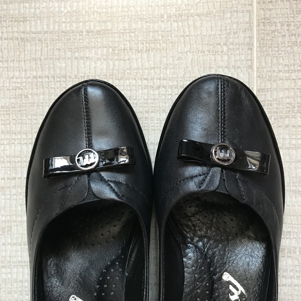 Классические туфли балетки на каблучке missy 37 р. турция фото №3