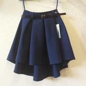 Стильная школьная юбка ассиметрия от производителя