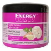 Восстанавливающая чесночная крем маска energy cosmetics garlic extract with keratin hot oil cream