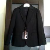 Школьный пиджак + жилет Bozer. Размер 30, 122-128см
