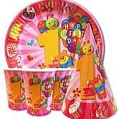"""Набор для детского дня рождения """" Первый годик розовый """""""