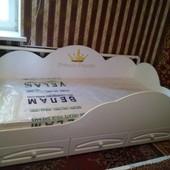 """Кровать детская """"Принцесса"""" с защитным бортиком. Николаев. Кредит."""
