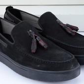 Черные модные мужские мокасины BFG Moda.shoes- 027. фирменная Турция