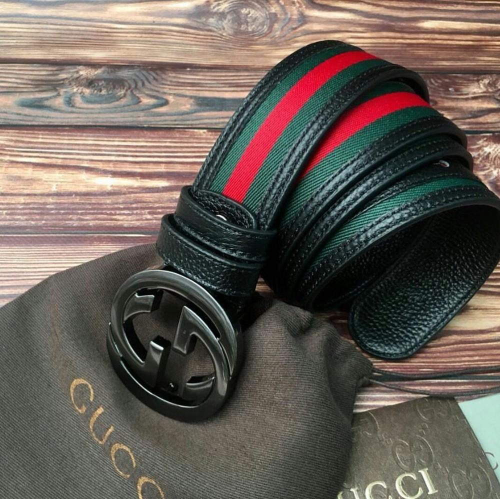 Модный кожаный ремень гучи 389 фото №1