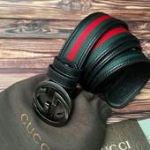 Модный кожаный ремень Гучи 389