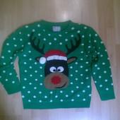 Новогодний свитер кофта M