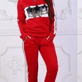 Размеры 42-54 Три цвета Женский теплый спортивный костюм