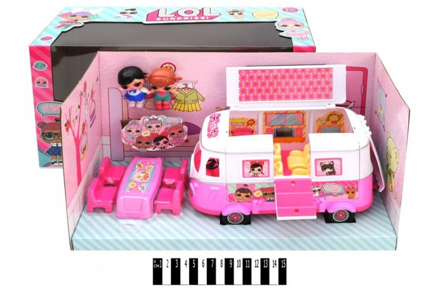 Кукла lol с автобусом-трансформером тм855в фото №1