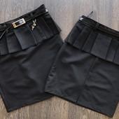 2 цвета Юбка 122-152см для девочки в школу школьная форма юбочка для школы
