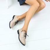 Женские туфли на шнурках, р 36-40, код ks-3032