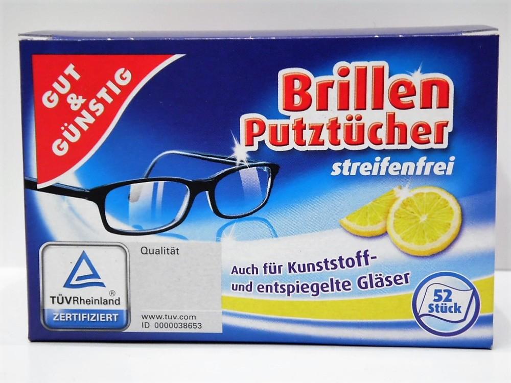 Влажные салфетки для линз g&g brillen putztucher 52 шт (германия) фото №1