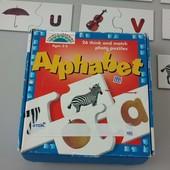 Алфавит, пазлы-игра с английским алфавитом