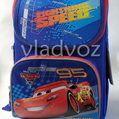 Школьный каркасный рюкзак для мальчиков Тачки Cars синий 1 вересня 3441-3