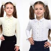 Школьная форма. Smil, Блуза 114518 нарядная с рюшами, дл. рукав