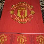 Фирменная полуторная постель постельное белье детское Футбол Manchester United Манчестер Юнайтед