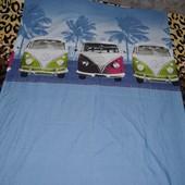 Обалденный качественный фирменный полуторный пододеяльник постельное детское Машинки