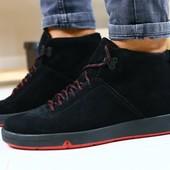 Мужские зимние ботинки из натуральной замши, код ks-4084