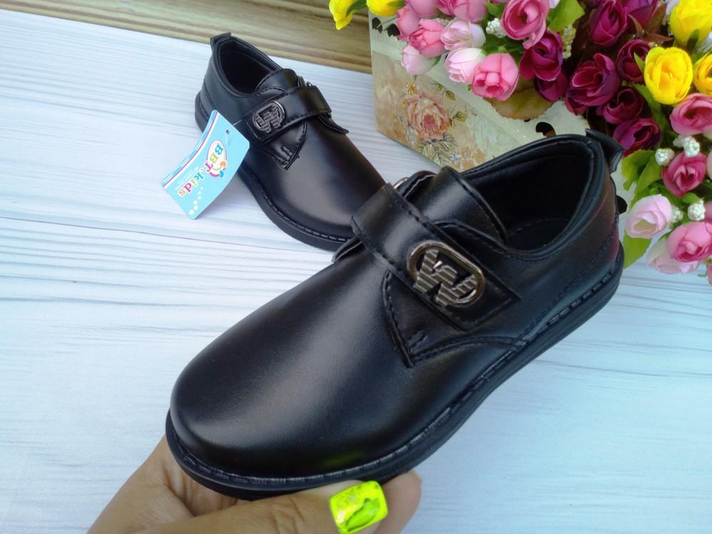 Туфли для мальчика фирмы bbt размер 27,29,30 черные фото №1