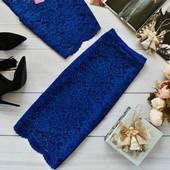 Изысканная юбка из кружева 40-46рр в наличии 9 цветов
