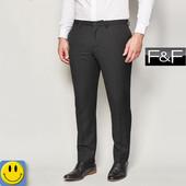 Мужские черные брюки F&F р. M - L. Состояние новых