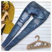 Джинсы Perfect Jeans с заплатками рр Л