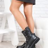 Новинка! деми/зима женские замшевые /кожаные ботинки код:СЛ 67122-28
