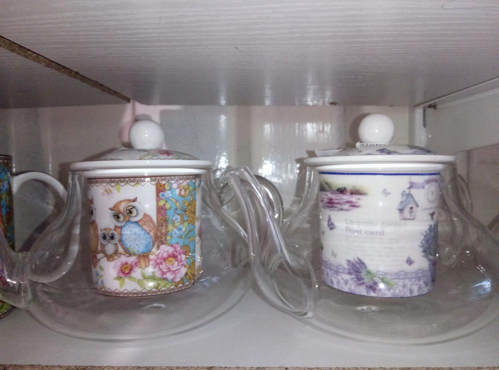 Заварочные стеклянные чайники 350мл фото №1