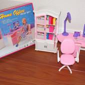 Кукольная мебель Gloria Глория 24018 офис, стул стол