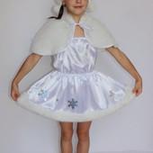 Детский карнавальный костюм для девочки Снежинка 2