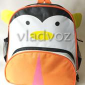 Детский рюкзак для дошкольника пингвин бело оранж 3744-4