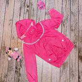 Фирменная куртка-ветровка для девочки 9-10 лет, 134-140 см