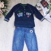 Комплект реглан и джинсы 3-6 мес F&F