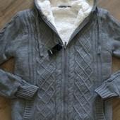 вязаная куртка толстовка на меху.Livergy.германия.48-50
