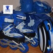 Ролики цвета набор! Защита, шлем сумка Maraton фирма подшипники abec7, раздвижные, колесо светится