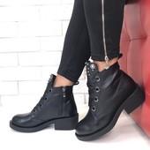 Новинка! женские кожаные ботинки код:МР 1156