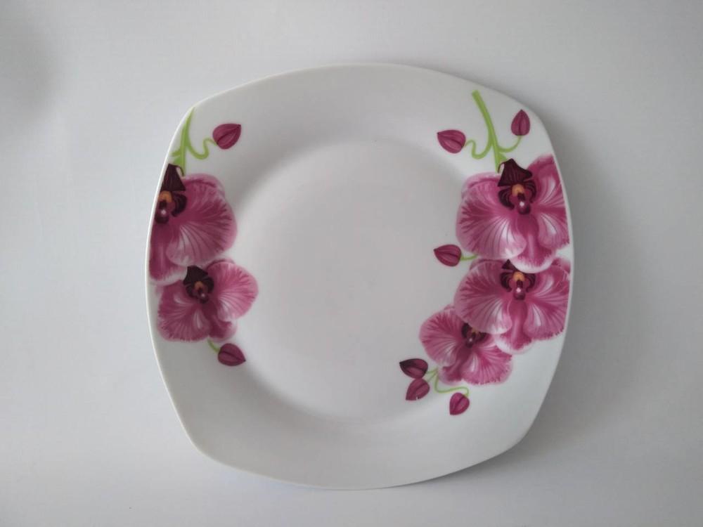 Тарелка квадратная 9,5мл орхидея 17-092 фото №1