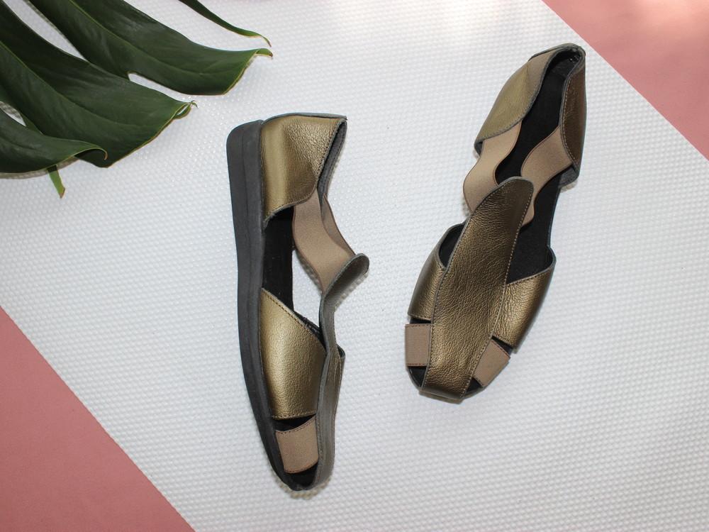 8c938e7ef074 41 26см footglove кожаные закрытые босоножки на резинке сандалии фото №1
