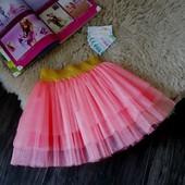 Нарядная фатиновая розовая юбка Five Stars U0123-116p
