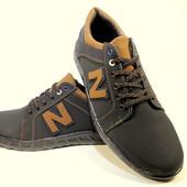 Туфли мужские спортивные, черные, на шнурках. Размер 40-45.