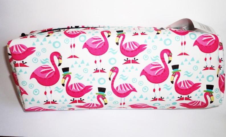 Пенал розовый фламинго 21смх7см фото №1
