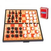 Набір 3 в 1+ шашки,шахи,нарди,гральні карти (арт.5240)-/30